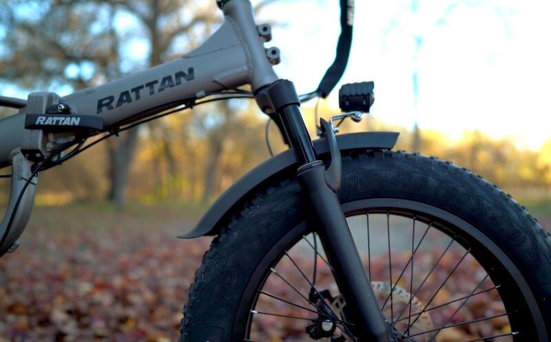 Rattan ebike lm750 front suspention