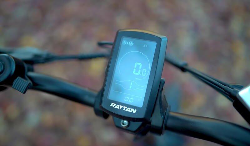 Rattan ebike lm750 lcd screen