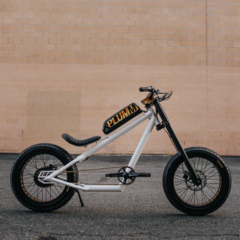 ebikezoom plum electric chopper bike