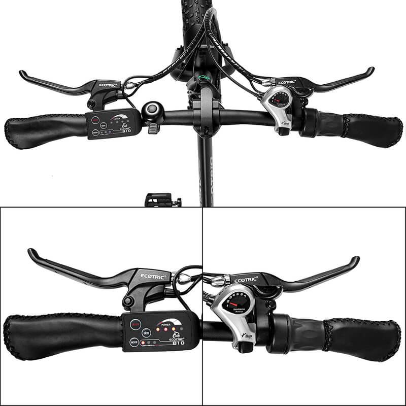 Ecotric Electric Bike FAT20810 display and shifter